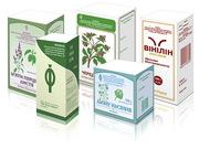Производство картонной упаковки для лекарственных трав и на чаи