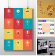 Типография ПРИНТ Ю Печать / дизайн календарей